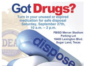FBISD Drug Take Back Up Initiative