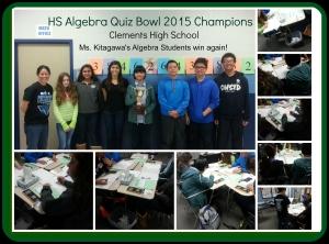 HS Algebra Quiz Bowl 2015 Champs-CHS